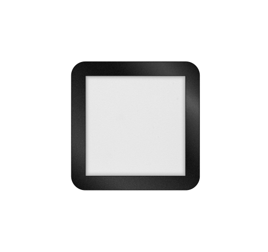 ETH Anne LED plafonnière 4 settings 22.5x22.5x2.7cm IP44 Zwart | Vierkant Plafonnières