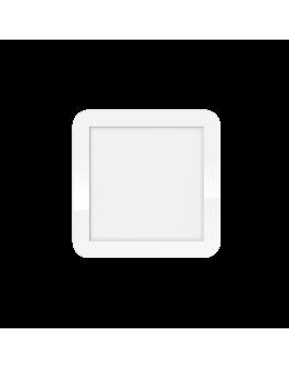 ETH Anne LED plafonnière 4 settings 22.5x22.5x2.7cm IP44 Wit | Vierkant