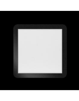 ETH Anne LED plafonnière 4 settings 30x30x2.7cm IP44 Zwart | Vierkant