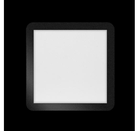 ETH Anne LED plafonnière 4 settings 30x30x2.7cm IP44 Zwart | Vierkant Plafonnières