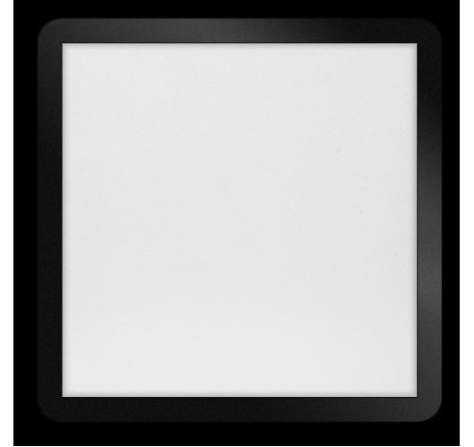 ETH Anne LED plafonnière 4 settings 40x40x2.7cm IP44 Zwart | Vierkant Plafonnières