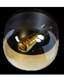 ETH Plafonnière Dopp Amber glas | Zwart Plafonnières