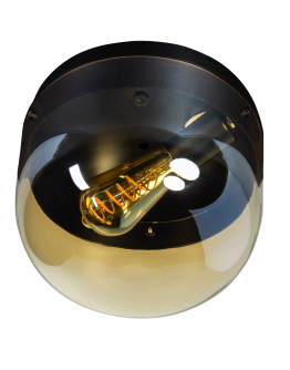 ETH Plafonnière Dopp Amber glas | Zwart