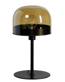 ETH Tafellamp Dopp Amber glas | Zwart Tafellampen