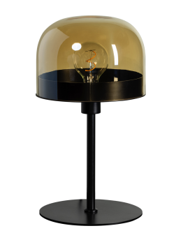 ETH Tafellamp Dopp Amber glas | Zwart