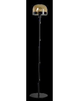 ETH Vloerlamp Dopp Amber glas | Zwart