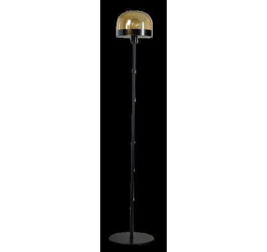 ETH Vloerlamp Dopp Amber glas | Zwart Vloerlampen