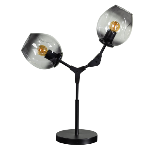 ETH Tafellamp Lime 2x E27 | Smoke Glas Tafellampen