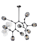 ETH Hanglamp Lime 7x E27 | Smoke Glas Hanglampen