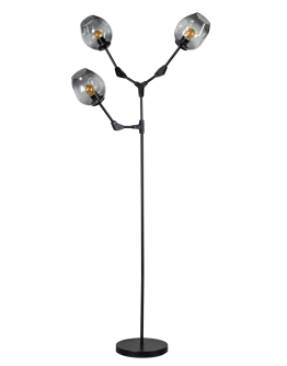 ETH Vloerlamp Lime 3x E27 | Smoke Glas