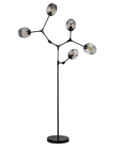 ETH Vloerlamp Lime 5x E27   Smoke Glas Vloerlampen