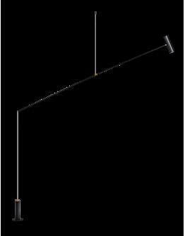 ETH Vloerlamp/ Hanglamp Rodd zwart LED 12W | Dimbaar