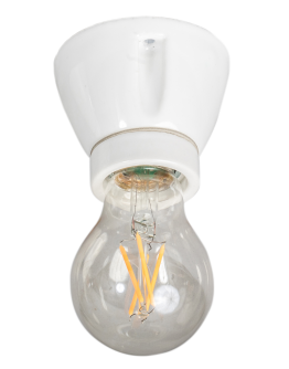 Vintage Straight E27 glad porselein Wit(corodex)