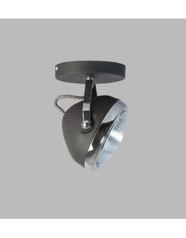 Headlight Plafond / Wand Spot Zwart / Chroom (max 42w) / 1 Spot