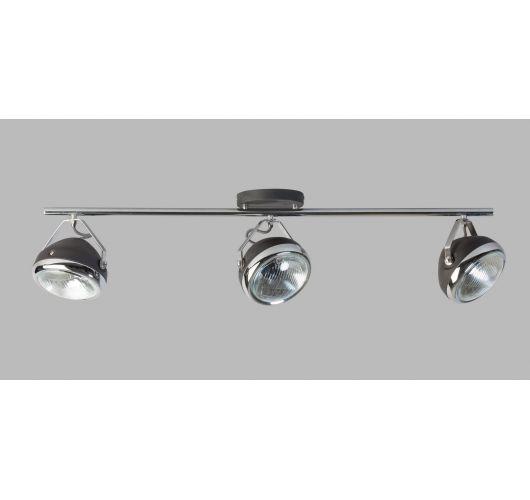 Headlight Plafond / Wand Spot Zwart / Chroom (max 42w) Plafondlamp