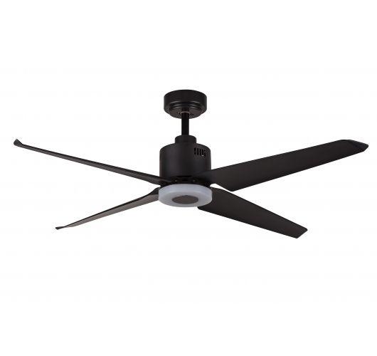 ETH Fan no.1 plafondventilator LED 4 Bladen | Zwart Ventilatoren