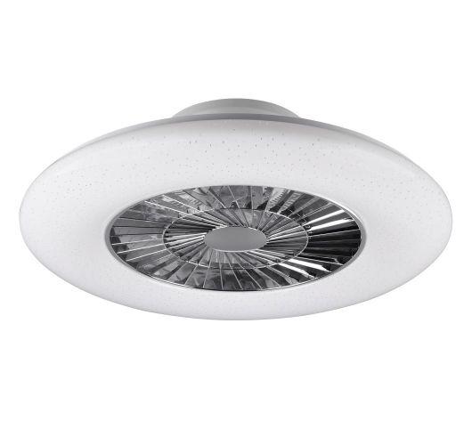 Trio Plafond Ventilator Visby LED Ø59CM | Chroom/Wit Ventilatoren