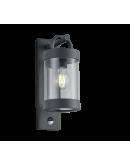 Trio Wandlamp Sambesi Bewegingssensor IP44   Antraciet Wandlampen