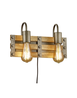 Trio Wandlamp Khan 2 lichts | Antiek Nikkel