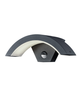 Trio Wandlamp Ohio LED IP54 Bewegingssensor   Antraciet