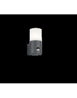 Trio Wandlamp Hoosic IP44 Bewegingssensor   Antraciet