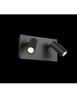 Trio Wandlamp Tunga 2 Lichts LED IP54 | Antraciet