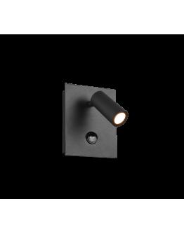 Trio Wandlamp Tunga LED IP54 Bewegingssensor | Antraciet