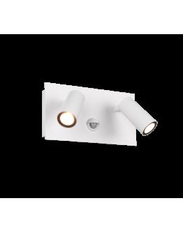 Trio Wandlamp Tunga 2 Lichts LED IP54 Bewegingssensor | Wit Mat