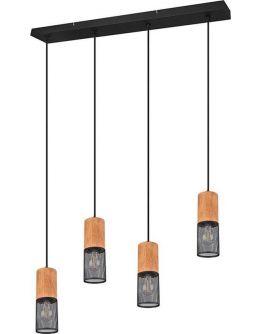 Trio Hanglamp Tosh 4 Lichts | Zwart