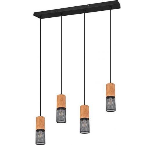 Trio Hanglamp Tosh 4 Lichts | Zwart Hanglampen