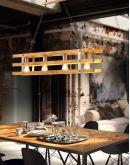 Trio Hanglamp Khan 4 lichts | Antiek Nikkel Hanglampen