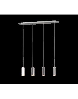 Trio Hanglamp Marley 4 lichts  | Nikkel Mat