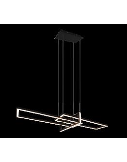 Trio Hanglamp Salinas LED | Mat Zwart