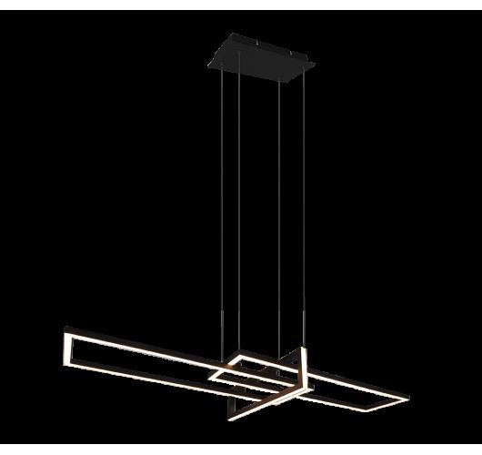Trio Hanglamp Salinas LED | Mat Zwart Hanglampen