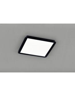 Reality Camillus Plafonnière | Zwart | 40x40 cm | incl. SMD LED | Dimbaar | Geschikt voor de badkamer