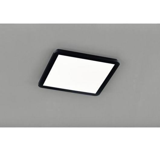 Reality Camillus Plafonnière | Zwart | 40x40 cm | incl. SMD LED | Dimbaar | Geschikt voor de badkamer Plafonnière
