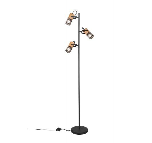 Trio Vloerlamp Tosh 3 Lichts   Zwart Vloerlampen