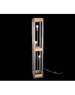 Trio Vloerlamp Khan 3 lichts | Antiek Nikkel