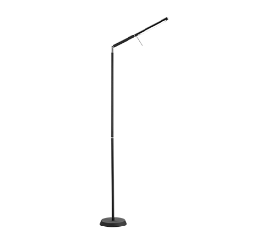Trio Vloerlamp Filigran LED | Mat Zwart Vloerlampen