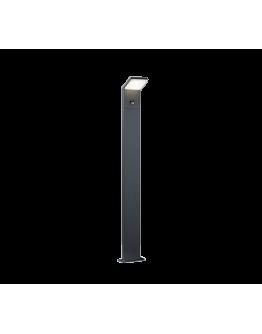 Trio Paal / Sokkel Pearl LED IP54 Bewegingssensor H 100CM | Antraciet