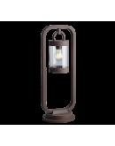 Trio Paal / Sokkel Sambesi Dag/Nacht Sensor IP44 H 60CM   Roest Kleur Wandlampen