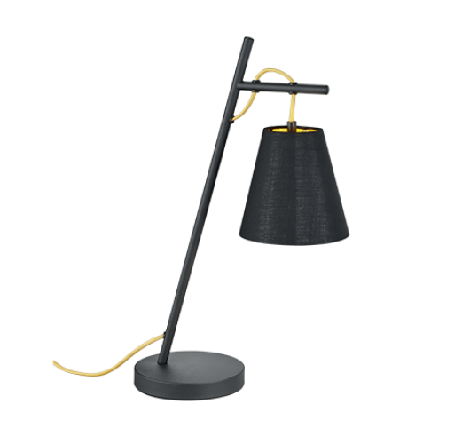 Trio Tafellamp Andreus | Mat Zwart Tafellampen