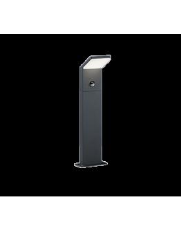 Trio Paal / Sokkel Pearl LED IP54 Bewegingssensor H 50CM | Antraciet