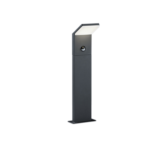 Trio Paal / Sokkel Pearl LED IP54 Bewegingssensor H 50CM | Antraciet Overigen