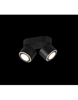 Trio Dubbele Inbouwplafondspot Taurus LED | Zwart