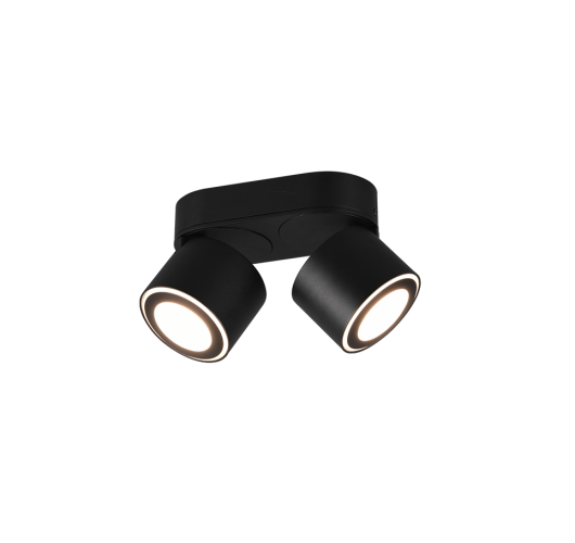 Trio Dubbele Inbouwplafondspot Taurus LED | Zwart Plafonnières