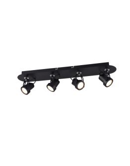 Trio Opbouwspot Goa 4 Lichts | Zwart