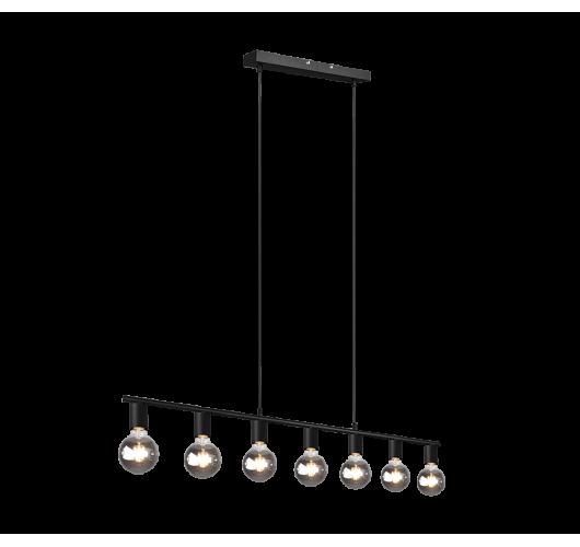 Trio Hanglamp Vannes 7 lichts | Mat Zwart Hanglampen