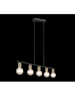 Trio Hanglamp Vannes 5 lichts | Messing mat