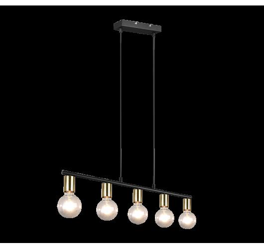 Trio Hanglamp Vannes 5 lichts   Messing mat Hanglampen